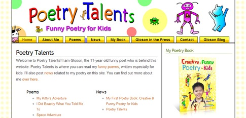poetrytalents.com in May 2009