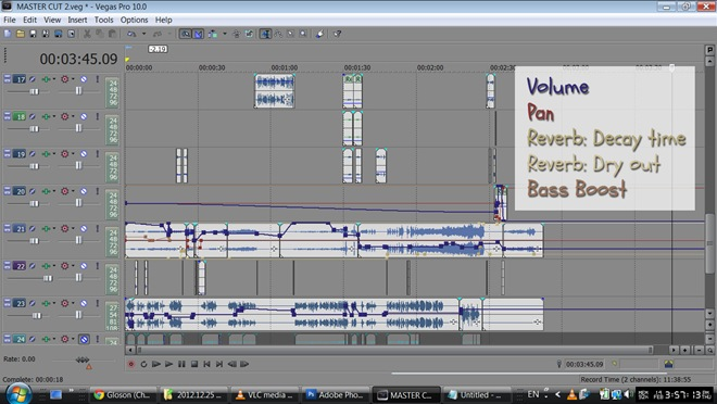 Screenshot Audio Editing Sony Vegas